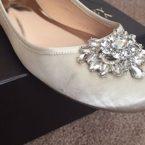 Badgley Mischka Shoes - Badgley Mischka Bridal Flats - Bianca - Size 11